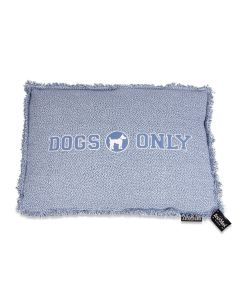 Lex & Max Hondenkussen Dogs Only Faded Blauw - Boxbed - 75 x 50cm - Kussenhoes