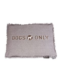 Lex & Max Hondenkussen Dogs Only Taupe - Boxbed - 75 x 50cm - Kussenhoes