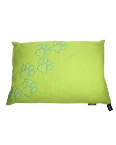 Lex & Max Hondenkussen Happy Feet Lime Groen - 100 x 70cm - Kussenhoes